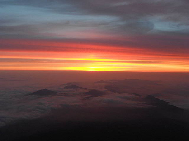 Alive to Each Moment – Sunrise from Mount Fuji